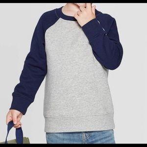 NWT - l/s raglan fleece sweatshirt